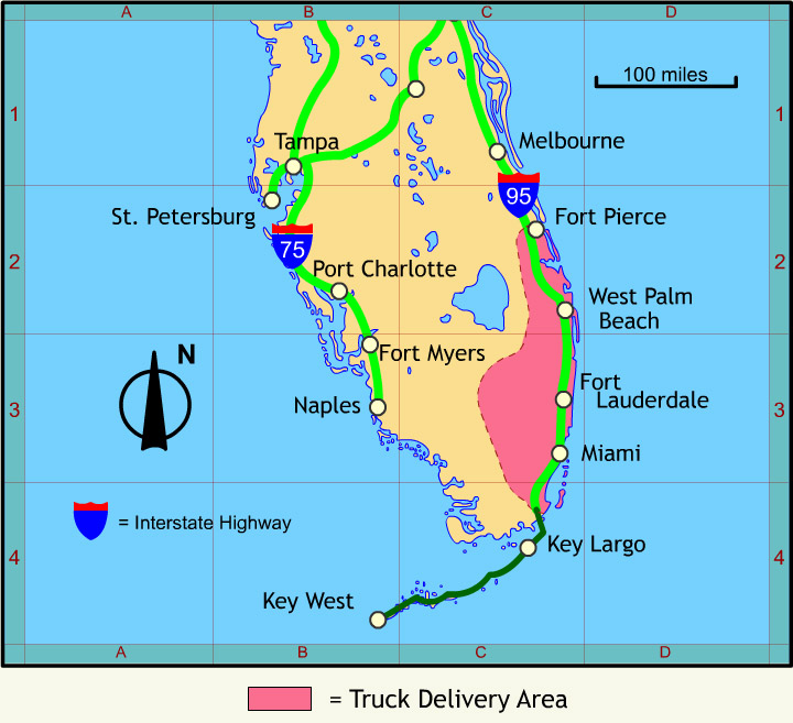 Truck Delivery Area